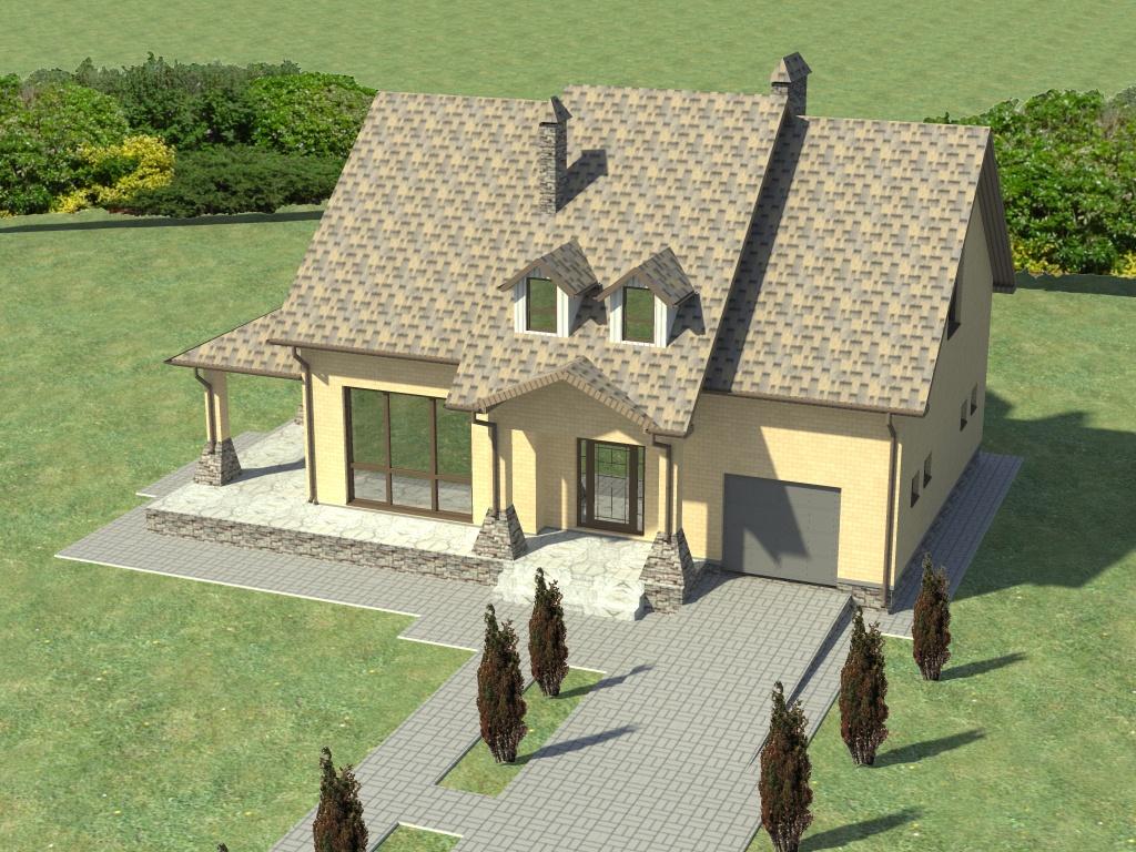 план схема дома с мансардой фото