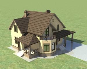 Проект мансардного дома в Белгороде