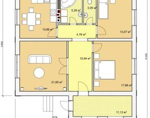 Проект одноэтажного дома, 101,1 м2