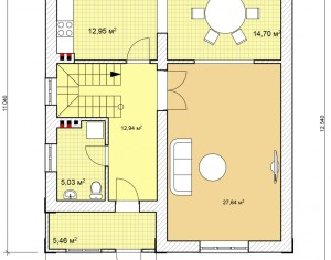 Проект дома с мансардой, 147,4 м2