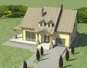 Проект дома с мансардой, 189,2 м2