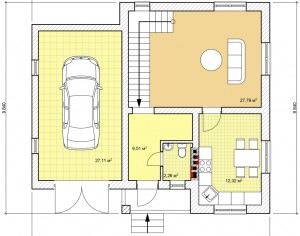 Проект дома с мансардой, 149,2 м2
