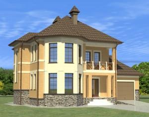 Проект двухэтажного дома, 183,8 м2