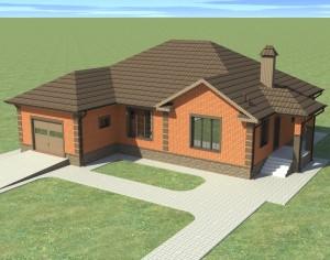 Проект одноэтажного дома, 184,4 м2