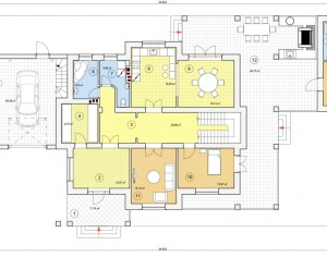 Проект двухэтажного дома, 473,4 м2