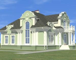 Проект двухэтажного дома, 408,2 м2