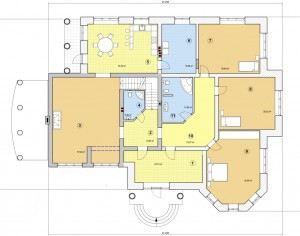 Проект дома с мансардой, 441,7 м2