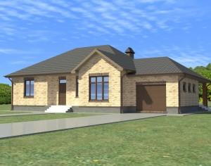 Проект одноэтажного дома, 154,7 м2