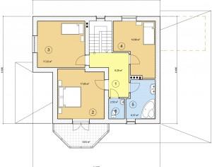 Проект дома с мансардой, 162 м2