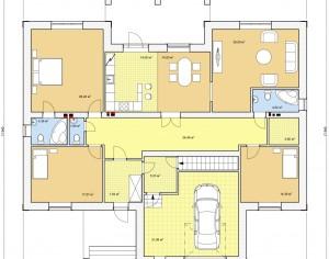 Проект одноэтажного дома, 196,1 м2