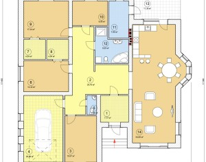 Проект одноэтажного дома, 214,6 м2