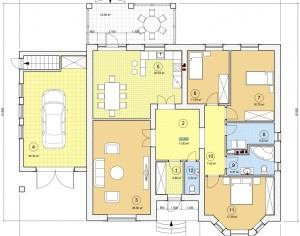 Проект одноэтажного дома, 197,8 м2