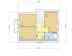 Проект дома с мансардой, 173,89 м2