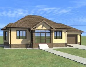 Проект одноэтажного дома, 153,05 м2