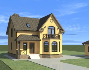Проект дома с мансардой, 178,07 м2