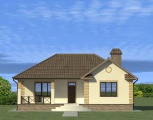 Проект одноэтажного дома, 154,15 м2