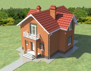 Проект дома с мансардой, 124,74 м2