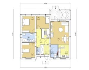 Проект одноэтажного дома, 144,31 м2