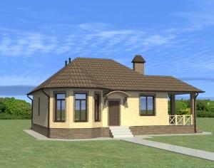 Проект одноэтажного дома, 92,5 м2