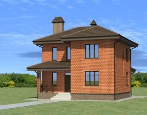 Проект двухэтажного дома, 125,5 м2