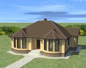 Проект одноэтажного дома, 152,36 м2