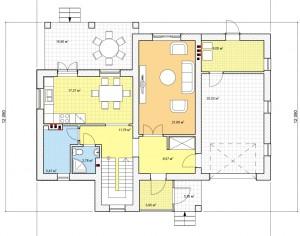 Проект двухэтажного дома, 183,7 м2