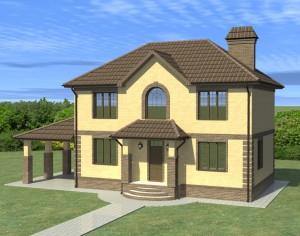 Проект двухэтажного дома, 135,94 м2