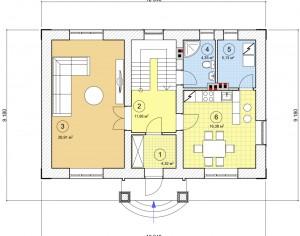 Проект двухэтажного дома, 131,47 м2