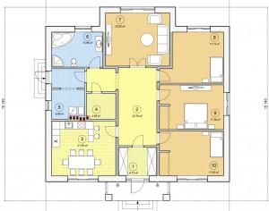 Проект одноэтажного дома, 149,43 м2