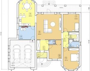Проект одноэтажного дома, 183,86 м2