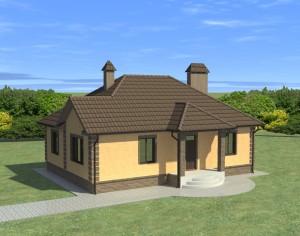 Проект одноэтажного дома, 117,53 м2