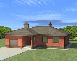Проект одноэтажного дома, 157,97 м2