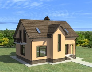 Проект двухэтажного дома, 158,79 м2
