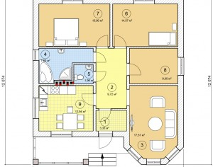Проект одноэтажного дома, 92,74 м2