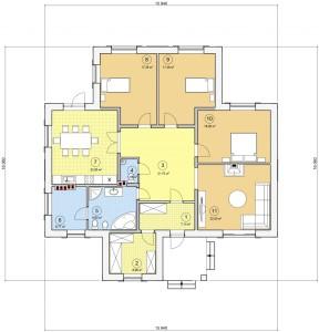 Проект одноэтажного дома01
