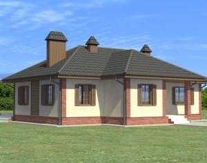 Проект одноэтажного дома, 154,67 м2