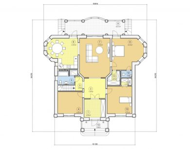 Проект одноэтажного дома, 149,13 м2