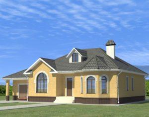 Проект одноэтажного дома, 187,8 м2