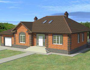 Проект одноэтажного дома, 220,5 м2