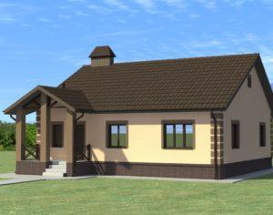 Проект одноэтажного дома, 116,97 м2
