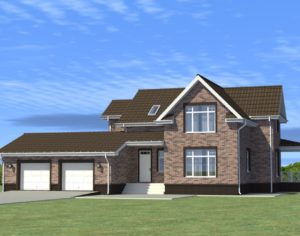 Проект дома с мансардой, 245,42 м2