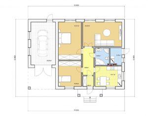 Проект одноэтажного дома, 129,62 м2