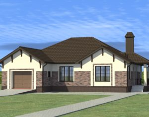 Проект одноэтажного дома, 185,63 м2