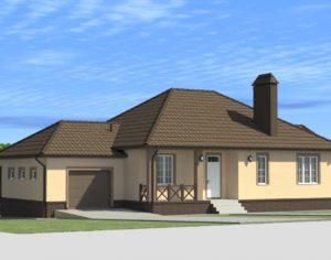 Проект одноэтажного дома, 153,20 м2