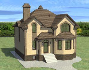 Проект дома с мансардой, 167,05 м2