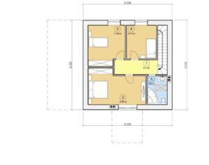Проект дома с мансардой, 128,28 м2