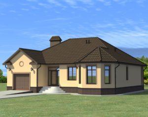 Проект одноэтажного дома, 170,00 м2