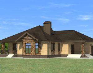 Проект одноэтажного дома, 169,62 м2