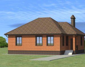 Проект одноэтажного дома, 113,95 м2