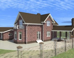 Проект дома с мансардой, 250,44 м2
